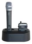 Handmikrofon Synexis in ladestation